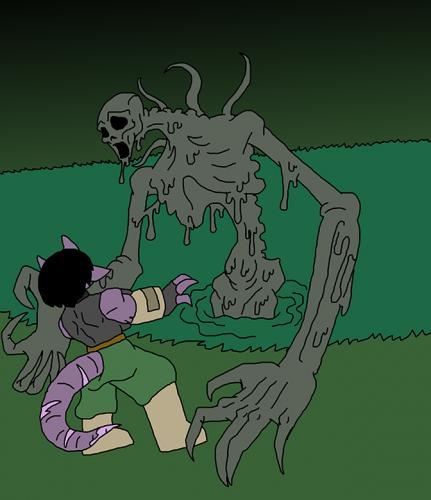 Shikun Boss Battle against Slime Beast 2 (FEAR)