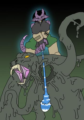 Shikun Boss Battle with a Slime Beast 3: Powerful WATER SHOT!