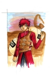 Gaara in Copic