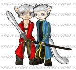 Dante and Vergil Chibi-kitties