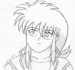Kurama :shaded sketch: by 2077