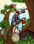 Akio in the trees