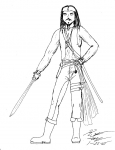 Captain Anime Sparrow -Lineart