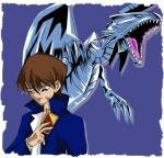 Seto Kaiba and Blue Eyes