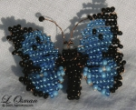 Bead Butterfly 1  Clouded Blue