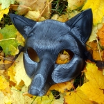 Black Fox Leather Mask