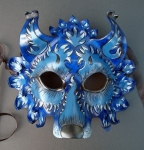 Blue Wolf Leather Mask
