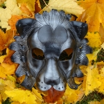 Black Lion Leather Mask