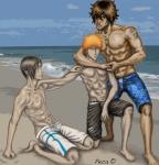 Bleach boys on the beach