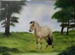 Fjordhorse painting