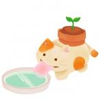 I saw a funny cat planter