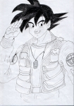 Goku in Stargate SG-1 Uniform by Vegetacub