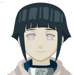 Hinata Lineart COLORED by mblanco