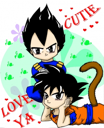 Chibi Vegeta and Goku