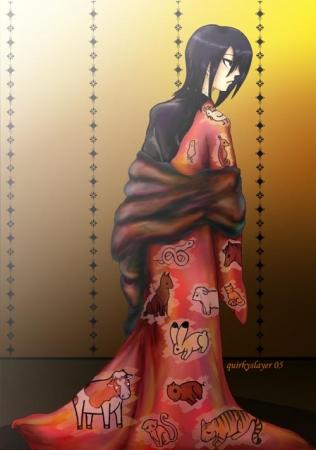 Akito Sohma in Kimono