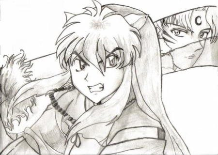 Inuyasha wields his Tetsusaiga