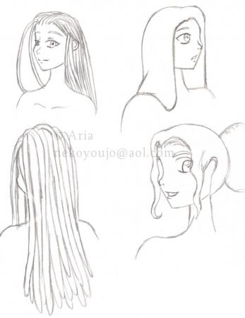 Konji uncolored hair ref sheet
