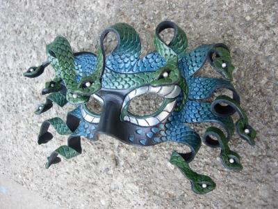 Blue/Teal Medusa mask