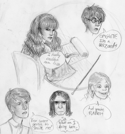 Harry Potter sketches.