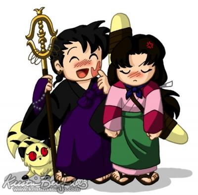 Miroku & Sango... ouch.