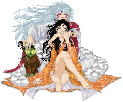 Sesshomaru  Rin  and Jaken