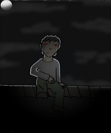 Boy under the moonlight