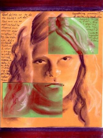 Opposites - self portrait #4
