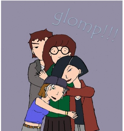 Daria's first glomping