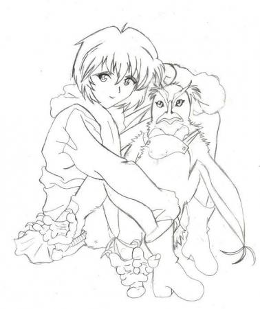 Rei and Pen Pen