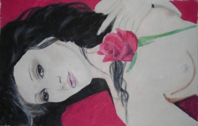 Lady with the rose