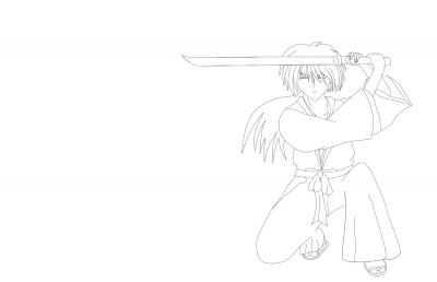 Kenshin lineart
