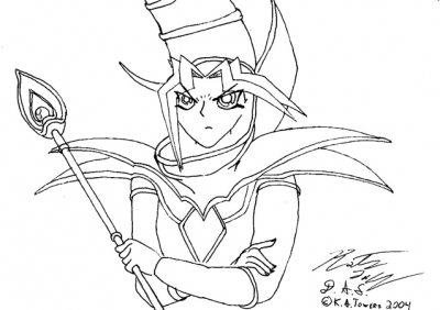 Yami is the Dark Mage -Lineart