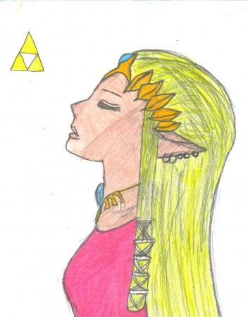 Princess Zelda (Colored)