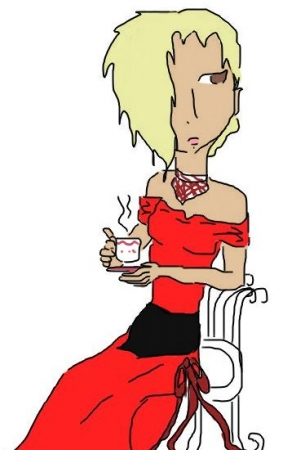 Lady with tea