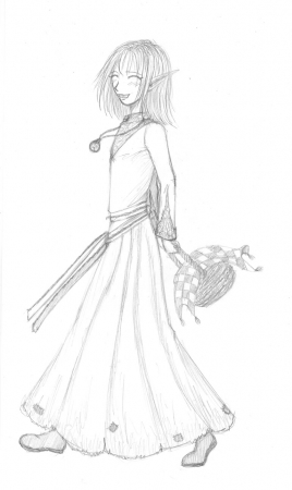 Cleric with basket