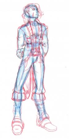 Alex - Full Body Sketch