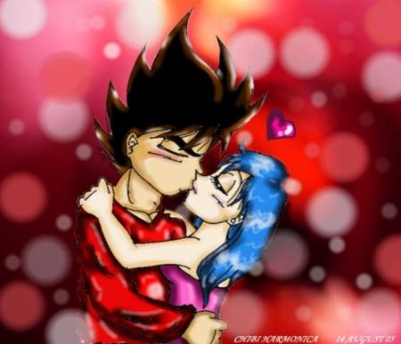 Vegeta&Bulma kissing