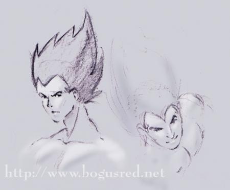 Vegeta sketches
