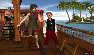 Peter Pan at Treasure Island