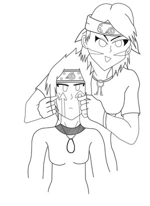Aww Come On Smile-Lineart