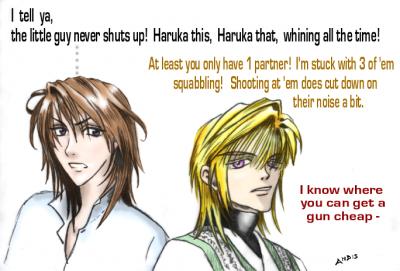 Haruka & Sanzo Commiserate
