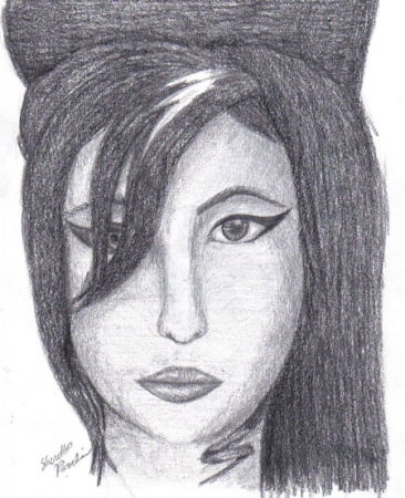 Facial Study - Amy Winehouse