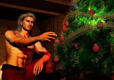 Santa Decorates