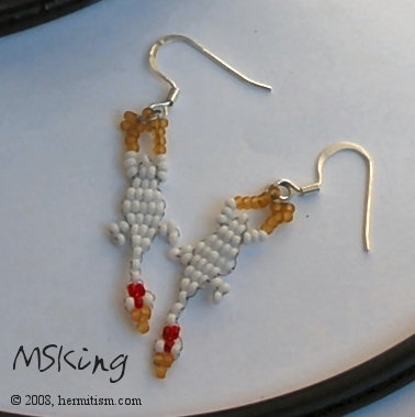 Rubber Chicken Earrings