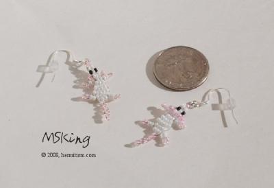 White Mice Earrings