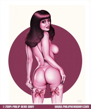 Pinup in Magenta