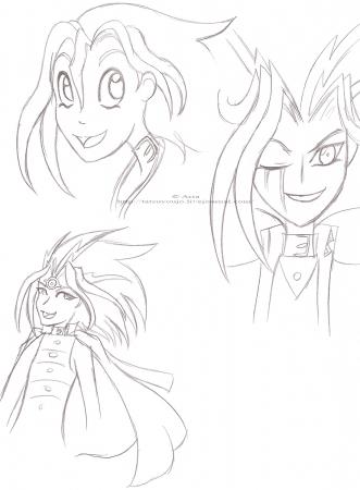 Yugi and crazed Yami *headshot