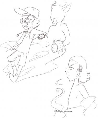 MZD and ? randomly doodle