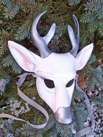 White Stag Leather Mask