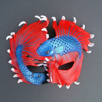 Fighting Bettas Leather Mask
